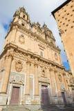 Salamanca - The baroque portal La Clerecia - Pontifical University. Stock Photos