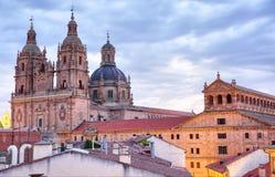 Salamanca bij schemer Royalty-vrije Stock Foto