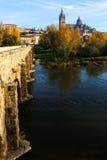 Salamanca from bridge Stock Images