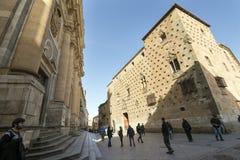 Salamanca Casa de las Conchas Fotografía de archivo