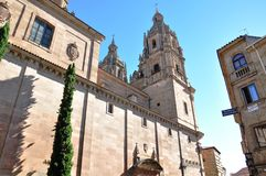 Salamanca Castle, Spain. Salamanca is an ancient Celtic city in northwestern Spain that is the capital of the Province of Salamanca Royalty Free Stock Image