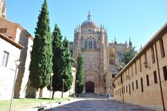 Salamanca Castle in Spain. Salamanca is an ancient Celtic city in northwestern Spain that is the capital of the Province of Salamanca Royalty Free Stock Images