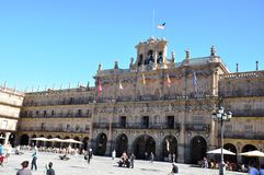 Salamanca Castle in Spain. Salamanca is an ancient Celtic city in northwestern Spain that is the capital of the Province of Salamanca Royalty Free Stock Photography