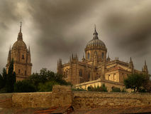 Salamanca Cathedral. By bruno alves whith olympus e-1 Royalty Free Stock Photography