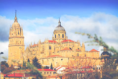 Salamanca Cathedral in autumn Royalty Free Stock Photography