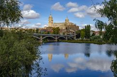 Salamanca Cathedral is a late Gothic and Baroque catedral in Salamanca city stock image
