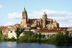 Salamanca cathedral. New cathedral in Salamanca Spain Stock Images