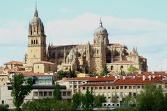 Salamanca cathedral. New Cathedral in Salamanca Spain Royalty Free Stock Photos