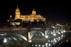 Salamanca cathedral at night Royalty Free Stock Photo