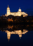 Salamanca Cathedral in night Royalty Free Stock Photography