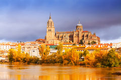 Salamanca Cathedral  in november Royalty Free Stock Photos
