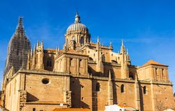 Salamanca Cathedral Rear View Royalty Free Stock Images
