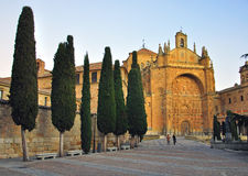Salamanca cathedral on sunset Royalty Free Stock Image