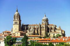 Salamanca cathedral view, Spain, summer Royalty Free Stock Photography
