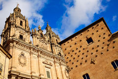 Salamanca Clerecia church and Casa Conchas Royalty Free Stock Photography