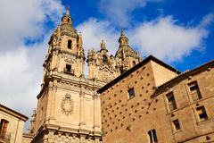 Salamanca Clerecia church and Casa Conchas Stock Image