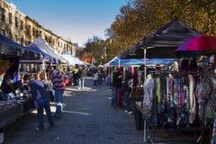 Salamanca commercializza Hobart Fotografia Stock Libera da Diritti