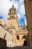Salamanca - das gotische Südportal von Catedral Nueva - neue Kathedrale Lizenzfreie Stockfotos