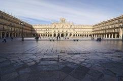 Salamanca. De Burgemeester van het plein Royalty-vrije Stock Afbeelding