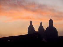 Salamanca an der Dämmerung Lizenzfreies Stockbild