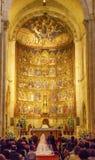 Salamanca för forntida hus för absid för förbindelsebrud gammal domkyrka Spanien Arkivbilder