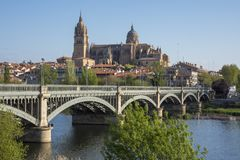 Salamanca is famous city in Castile and Leon region, Spain. Salamanca is a famous city in Castile and Leon region, Spain royalty free stock photo