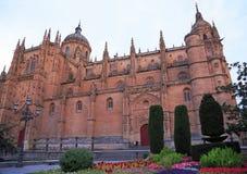 Salamanca gamla och nya domkyrkor, Spanien arkivfoto