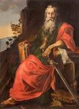 SALAMANCA, HISZPANIA, 2016: St Paul obraz w Convento De San Esteban niewiadomym artystą 17 cent Fotografia Stock