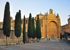 Salamanca katedra na zmierzchu obraz royalty free