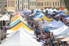 Salamanca Market Hobart Australia Stock Images