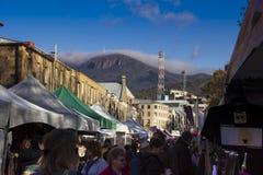 Salamanca markets Hobart Stock Photos
