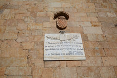 Salamanca Memorial to writer Cervantes Royalty Free Stock Images