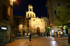 Salamanca at night Stock Photo