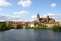 Salamanca panorama. With the cathedral Royalty Free Stock Photography