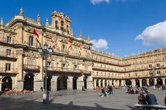 Salamanca - Piazza-Bürgermeister Stockbild
