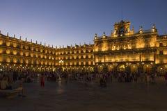 Salamanca - Piazza-Major - Spanien Lizenzfreies Stockfoto