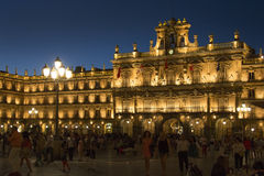 Salamanca - Plaza Major - Spain. Plaza Major in the city of Salamanca in the Castilla-y-Leon region of central Spain Stock Photos