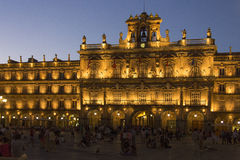 Salamanca - Plaza Major - Spain. Plaza Major in the city of Salamanca in the Castilla-y-Leon region of central Spain Stock Photography