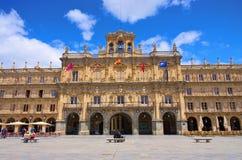 Salamanca Plaza Mayor. Salamanca in Spain, Plaza Mayor Royalty Free Stock Images