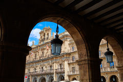 Salamanca Plaza Mayor in Spain Stock Images