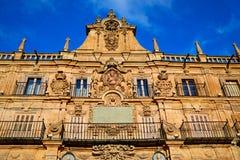Salamanca Plaza Mayor in Spain Stock Photography
