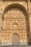 Salamanca - The portal of Convento de San Esteban Stock Image