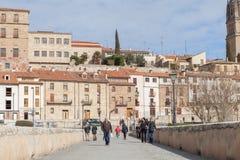 Salamanca rzymski most obraz stock