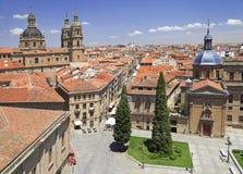 Salamanca skyline, Plaza Anaya, Spain stock photography