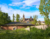 Salamanca skyline with Tormes river Spain Royalty Free Stock Photography