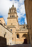 Salamanca - The south gothic portal of Catedral Nueva - New Cathedral Royalty Free Stock Photos
