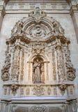 SALAMANCA, SPAGNA, 17 APRILE AL 2016: Altare laterale barrocco dello St Francis di Asissi in chiesa Capilla de San Francesco Fotografia Stock Libera da Diritti