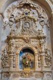 SALAMANCA, SPAGNA, 17 APRILE AL 2016: Altare laterale barrocco di St Anthony di Padova in chiesa Capilla de San Francesco Fotografia Stock Libera da Diritti