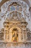 SALAMANCA, SPAGNA, 17 APRILE AL 2016: Dettaglio dell'altare laterale barrocco di St Joseph in chiesa Capilla de San Francesco Immagine Stock