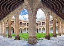 SALAMANCA, SPAIN, APRIL - 17, 2016: The atrium of Colegio Arzobispo Fonseca Stock Photo